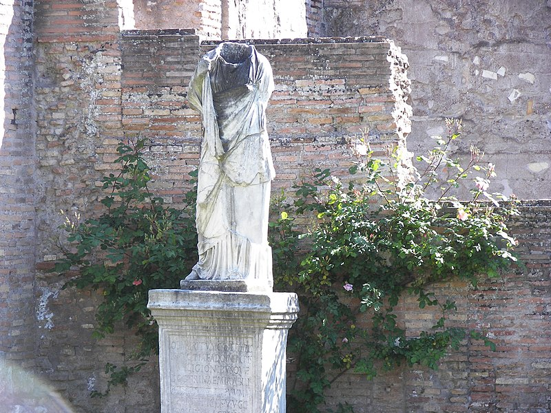 File:House of the Vestals statue 2.jpg