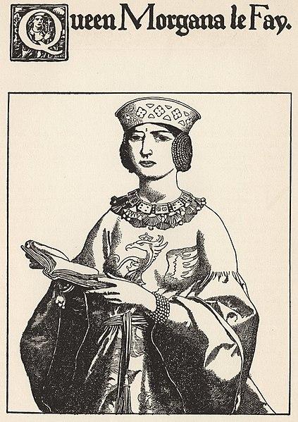 File:Howard Pyle - Queen Morgana Le Fay, 1903.jpg