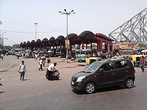 Howrah Junction railway station - Image: Howrah Bus Terminus Howrah Railway Station Area Howrah 2012 06 04 01303