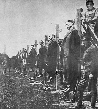 Hanging - Mass execution of Serbs by Austro-Hungarian army in 1916