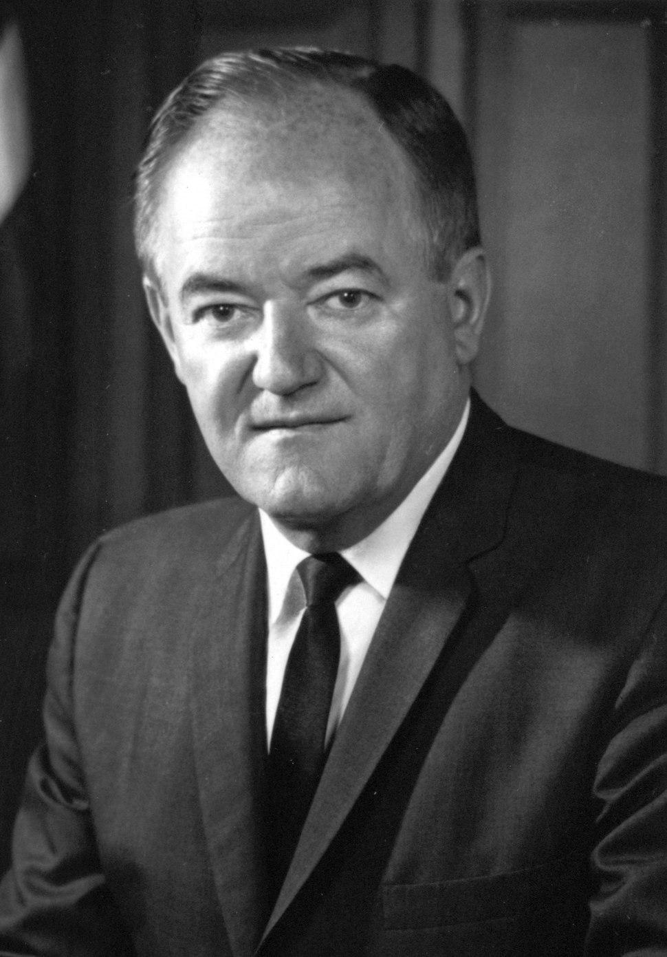 Hubert Humphrey, half-length portrait, facing front cropped