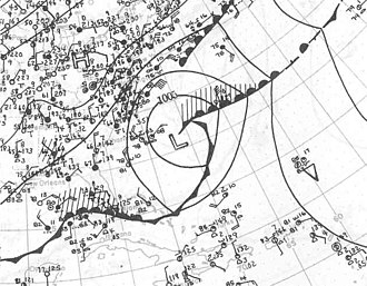 1922 Atlantic hurricane season - Image: Hurricane Three surface analysis September 21 1922