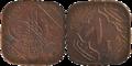 Hyderabad - One Anna - Osman Ali Khan - 1366 AH Bronze - Kolkata 2016-06-28 5259-5260.png