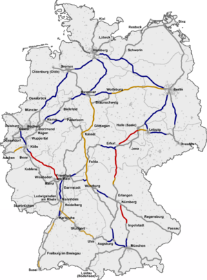 High-speed rail in Germany - Image: ICE Network