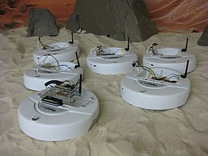 Swarm robotics - A team of iRobot Create robots at the Georgia Institute of Technology