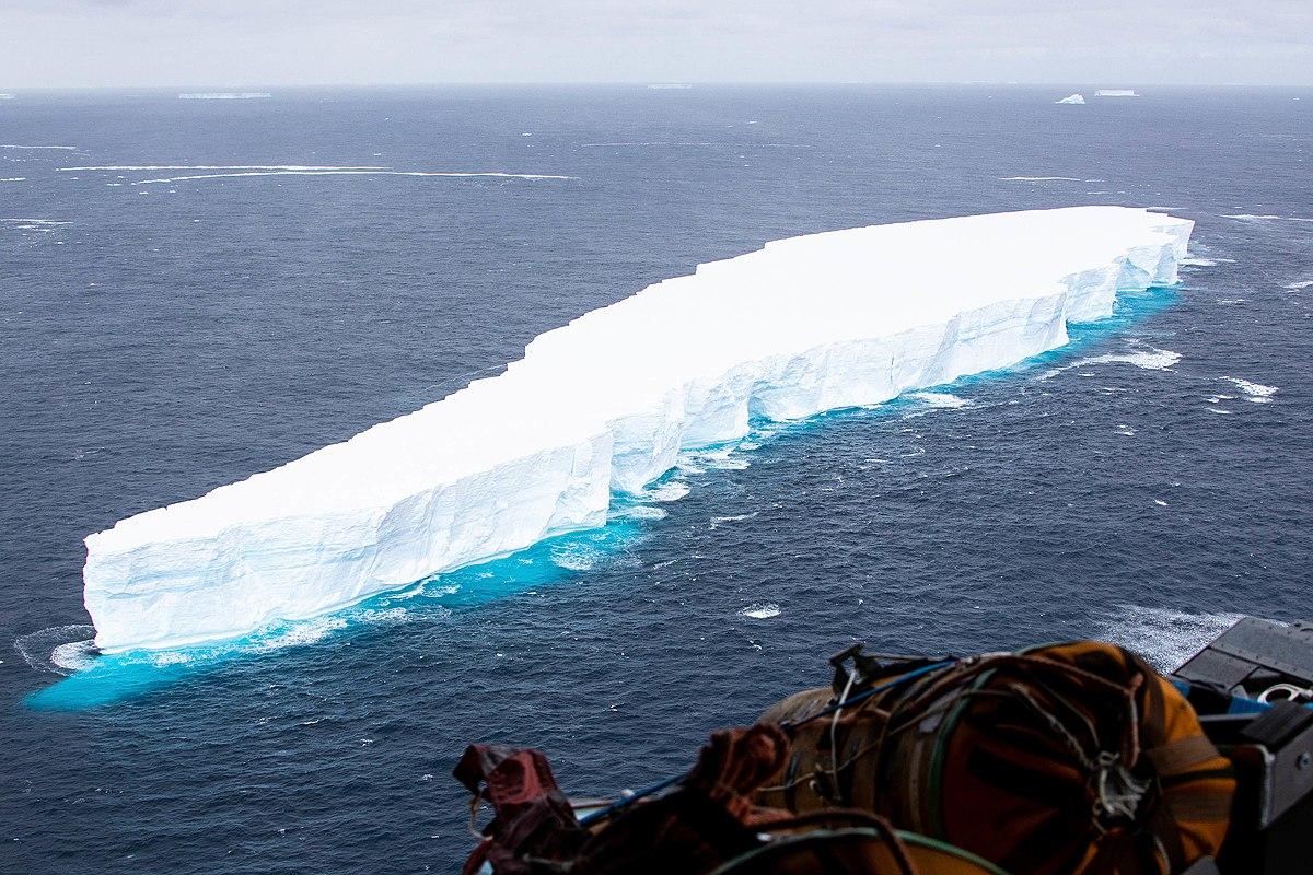 Iceberg A-68 was a giant tabular iceberg adrift in the South Atlantic, having calved from Antarctica's Larsen C ice shelf in July 2017.[1][