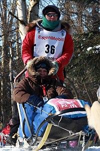 Iditarod musher Gerald Sousa and his Iditarider (3414473877).jpg