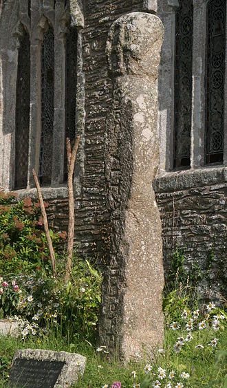 St Clement, Cornwall - The inscribed cross (Ignioc stone)