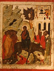 Christ entering Jerusalem