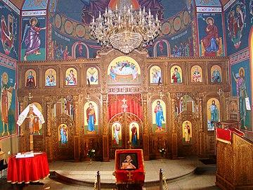 Ikonostas manastirskog Hrama Sv.Ilije u D. Detlaku (Derventa).jpg