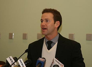 Aaron Schock - Schock speaking at a press conference