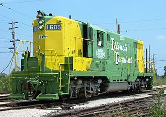 Illinois Terminal Railroad - Illinois Terminal 1605, a GP7 preserved in operating condition at Illinois Railway Museum
