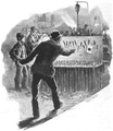 Illustration by Frank Feller for 'Marksmanship' by Gilbert Guerdon in the July 1894 'Strand Magazine' (pp.11-21)-Via Hathi Trust-Six Shies a Penny.png