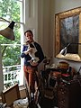 Im264-360px-Picture of Deborah Tarr in her London Studio with her dog, Rangey.jpg