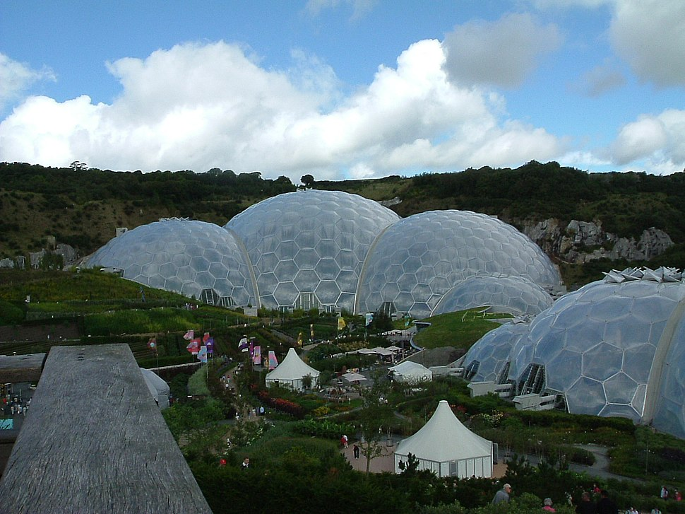Image-Eden Project dome and garden