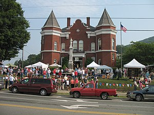 National Register of Historic Places listings in Grayson County, Virginia - Image: Independence va couthhouse during 4th July 2006