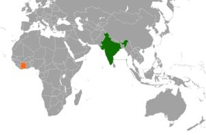 India–Ivory Coast relations - Image: India Ivory Coast Locator