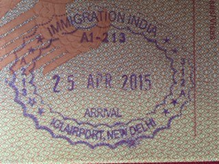 India passport entry stamp