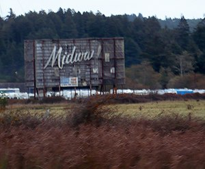 Indianola, Humboldt County, California - former Midway Drive-In, Indianola