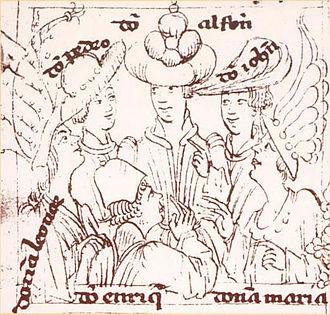 Infantes of Aragon - The Infantes of Aragon (clockwise from top): Alfonso, Juan, Maria, Enrique, Leonor, Pedro.