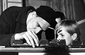 Jörgen Lindström - Lindström with Ingmar Bergman on the set of ''The Silence'' (1963).
