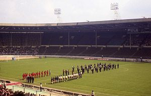 1993 New Zealand rugby league tour of Great Britain and France - Image: Inside the old Wembley Stadium