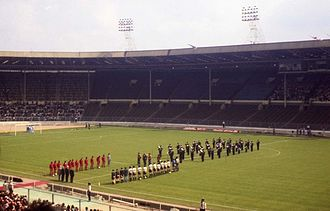 1995 Rugby League World Cup - Image: Inside the old Wembley Stadium