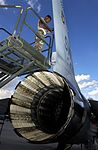 Installing VHF antenna on F-16 at Nellis Air Force Base Oct 2006.jpg