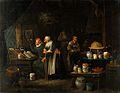 Interior with doctor, assistant, old woman and girl. Oil pai Wellcome V0017258.jpg