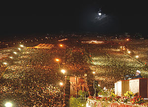 Punjabi festivals (Pakistan) - International Mawlid Conference, Minar-e-Pakistan, Lahore, Pakistan.