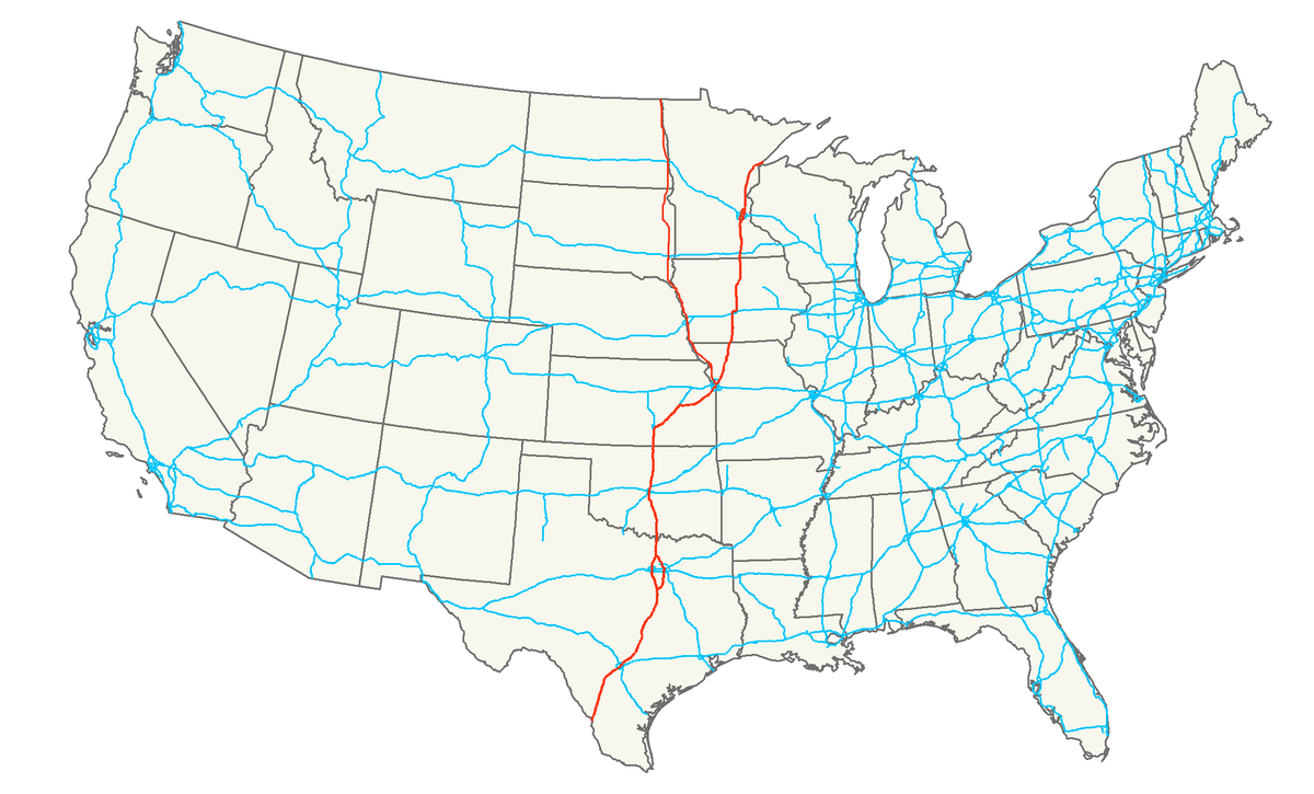 Super Highway From Canada To Mexico Map NAFTA superhighway   Wikipedia