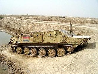 Battle of Khorramshahr - Iraqi BTR-50 wreckage at Khorramshahr, Khuzestan