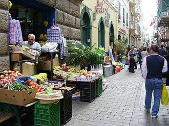 Irish Town, Gibraltar - Moroccan greengrocer in Irish Town.