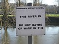 Irresistible^ A sign by the river. - geograph.org.uk - 695626.jpg