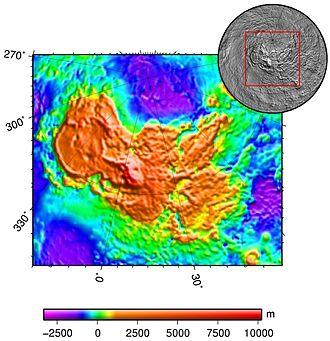 Ishtar Terra - Image: Ishtar terra topo