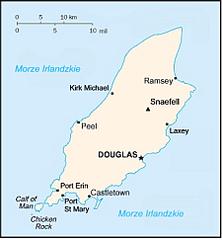 Mapa Wyspy Man