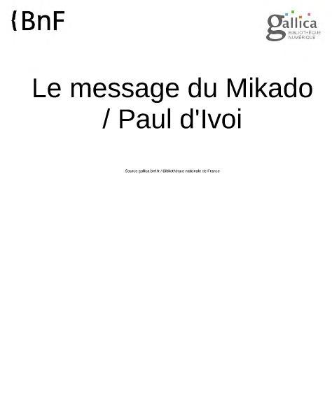 File:Ivoi - Le Message du Mikado.djvu