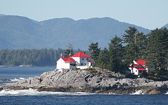 Seaforth Channel - Ivory Island Lighthouse at the northwest entrance to Seaforth Channel