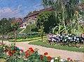 Józef Mehoffer - Dworek i ogród w Jankówce 1914.jpg