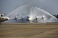 JMSDF P-3C being washed at Atsugi.jpg