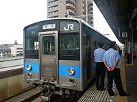JRS 121 at Sakaide Station 20130609 (9016617227).jpg