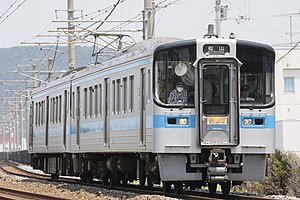 "JR Shikoku 7000 series - 7000 series on a Sunport ""Nampu"" relay rapid service, May 2009"