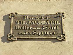 Photo of Theophilus Jacobäer bronze plaque