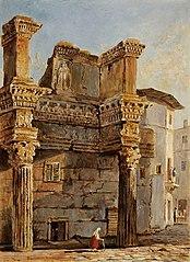 Le Temple de Minerve dans le forum de Nerva à Rome