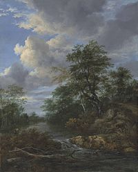 Jacob van Ruisdael - A wooded river landscape with a family at rest on a track d5857565x.jpg