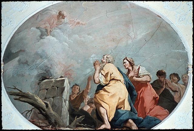 Jacopo Amigoni Dankopfer Noahs,