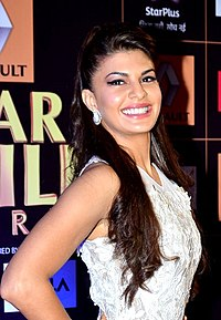 A photograph of Jacqueline Fernandez, looking on the camera.