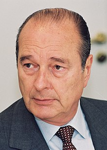 portrait photograph of a 64-year-old President Chirac