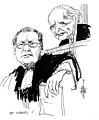 Jacques Vergès et Klaus Barbie lors de son procès. Lyon 1987 (dessin de Calvi).jpg