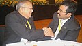 Jaipal Reddy with the Minister of Energy and Industry, Qatar, Mr. Mohammed Bin Salah Al Sada, at a bilateral meeting, on the sidelines of the 5th OPEC Seminar, at Vienna (Austria) on June 14, 2012.jpg